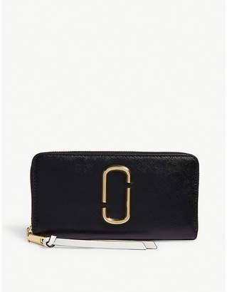 Marc Jacobs Snapshot Saffiano leather zip-around wallet