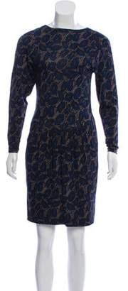 Missoni Printed Long Sleeve Dress Blue Printed Long Sleeve Dress