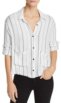 Bella Dahl Frayed Striped Shirt