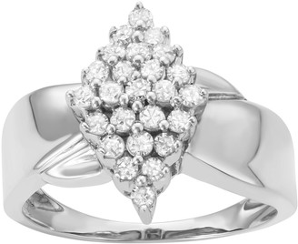 8901661bb Sterling Silver 1/2 Carat T.W. Diamond Marquise Promise Ring