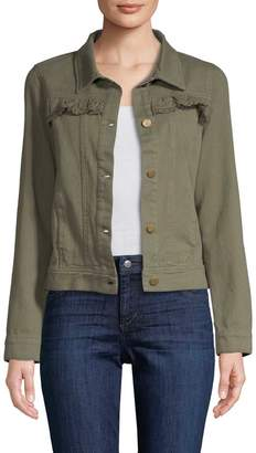 Allison Collection Women's Ruffled Twill Jacket