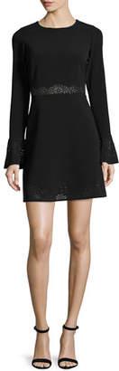 Parker Sonoma Eyelet-Trim Mini Dress, Black $315 thestylecure.com