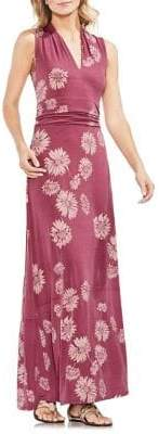 Vince Camuto Zen Bloom Floral-Print Maxi Dress