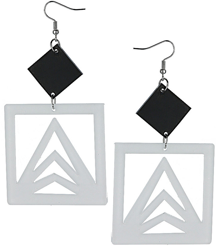 Topshop Cut Out Square Earrings