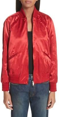 Valentino Rockstud Satin Bomber Jacket