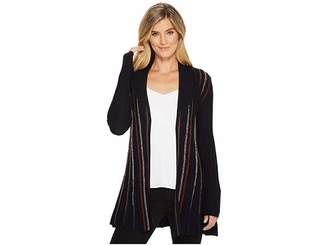 Nic+Zoe Black and Blue Cardy Women's Sweater