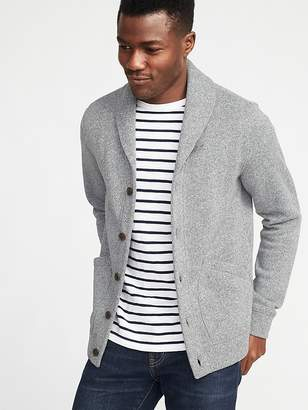 Old Navy Shawl-Collar Sweater-Fleece Cardigan for Men