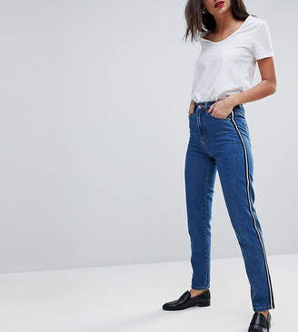 Vero Moda Tall Mom Jean With Side Tape