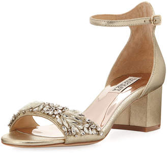 Badgley Mischka Tamara Low-Heel Dressy Sandal