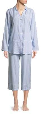 Carole Hochman Two-Piece Whisper Woven Capri Pajama Set