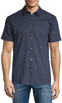 John Varvatos Men's Short Sleeve Floral Shirt