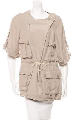 3.1 Phillip Lim Collarless Button-Up Jacket