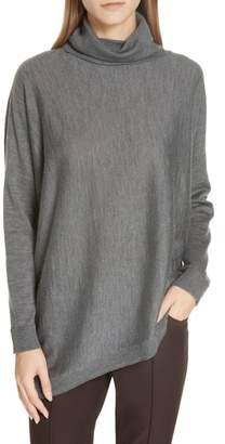 b91c677ec141 ... Eileen Fisher Merino Jersey Asymmetrical Turtleneck Sweater