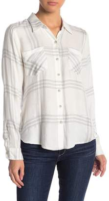 Lucky Brand Button Side Plaid Shirt