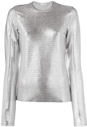 Paco Rabanne metallic knit jumper