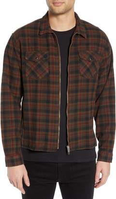 The Kooples Zip Plaid Flannel Shirt