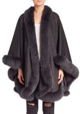 Sofia Cashmere Cashmere& Fox Fur Cape