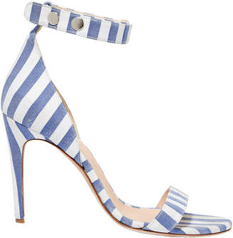 Monse Blue Stripe Sandals