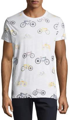 Noize Amstrdm Men's Bicycle Print Crewneck Tee