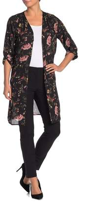 Pleione Open Front Printed Duster