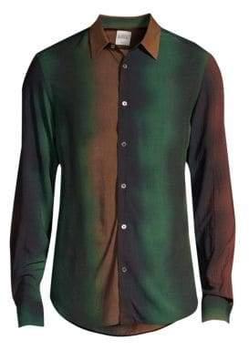 Paul Smith Degrade Stripe Button-Down Shirt