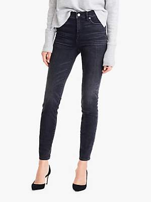 J.Crew 9 High-Rise Toothpick Jeans, Charcoal Wash