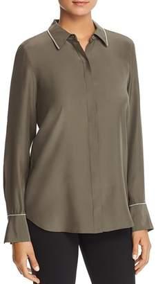 Lafayette 148 New York Scottie Embellished Silk Blouse