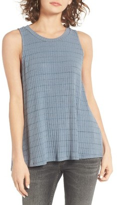 Women's Lush Open Back Rib Knit Tank $29 thestylecure.com