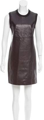 Alexander Wang Leather-Paneled Mini Dress
