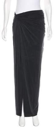 Helmut Lang Knotted Accent Maxi Skirt