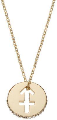 LC Lauren Conrad Gold Tone Zodiac Sign Circle Pendant Necklace $14 thestylecure.com