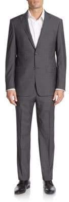 Michael Kors Regular-Fit Tonal Plaid Wool Suit