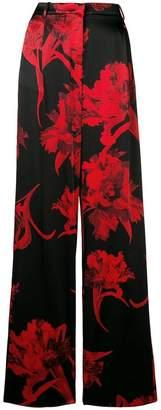 Roberto Cavalli Parrot Tulip Print palazzo trousers
