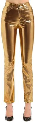 Fiorucci Yves Cigarette Metallic Jeans-Style Pant