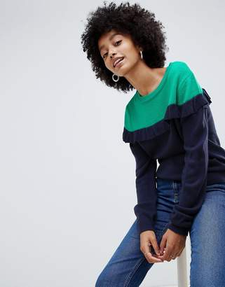 Brave Soul Duo Color Block Sweater