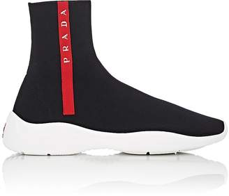 Prada Women's Logo-Embroidered Tech-Knit Sneakers