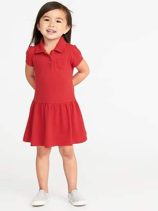 Old Navy Pique Uniform Polo Dress for Toddler Girls