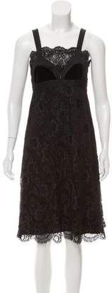 Christian Lacroix Lace-Accented Sleeveless Dress