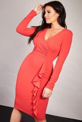 Next Womens Sistaglam Loves Jessica Wrap Bodycon Midi Dress
