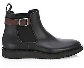 Saks Fifth Avenue Men's COLLECTION Buckle Rubber Chelsea Boots