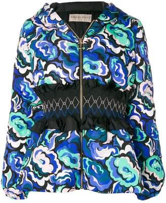 Emilio Pucci smocked waist jacket