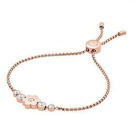Michael Kors Flower Power Rose Gold Tone Slider Bracelet