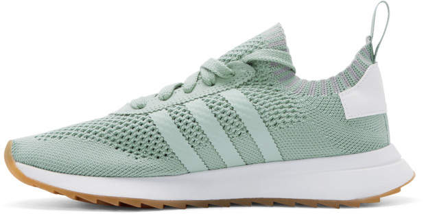 adidas Originals Green and White Flashback Primeknit Sneakers detail image d3c53dd71
