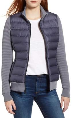 Andrew Marc Puffer Jacket with Knit Sleeves