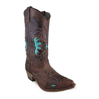 SMOKY MOUNTAIN Smoky Mountain Women's Moon Bay 12 Distress Leather Cowboy Boot