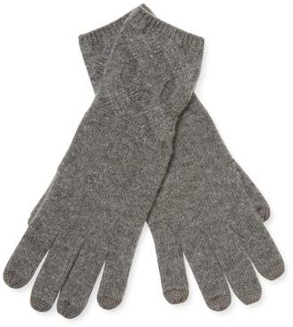 Qi Women's Cable Stitch Cashmere Gloves