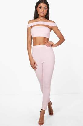 boohoo Off Shoulder Crop & Trouser Co-Ord