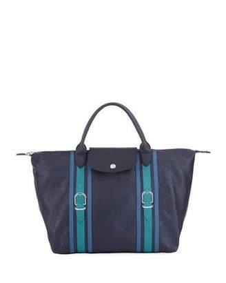 Longchamp Le Pliage Cuir Medium Satchel Bag