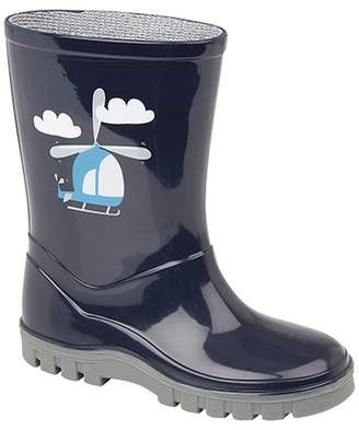 Stormwell Childrens/Boys Helicopter PVC Wellington Boots
