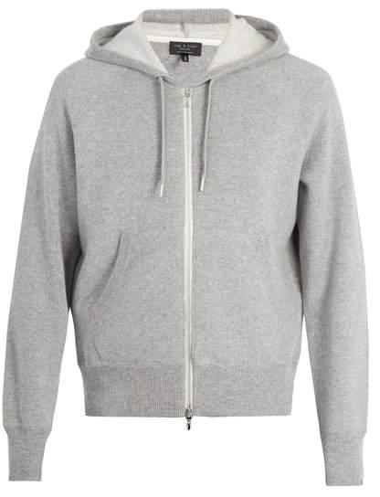Rag & Bone Haldon hooded zip-through cashmere sweater